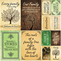 Reminisce 12x12 Family Tree Stickers