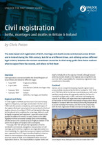 Handy Guide: Civil Registration Births, Marriages and Deaths in Britain and Ireland