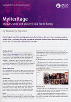 Handy Guide: MyHeritage - Discover, Share and Preserve Your Family History