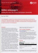 Handy Guide: Online Newspapers, Getting the Most Out of Trove Newspapers (Australia)