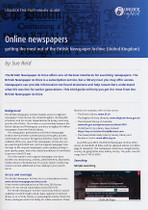 Handy Guide: Online Newspapers, Getting the Most Out of the British Newspaper Archive (United Kingdom)