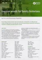 Handy Guide: German Words for Family Historians