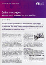 Handy Guide: Online Newspapers, Advanced Search Techniques and Name Searching