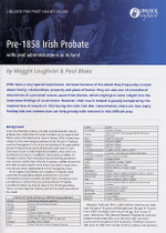 Handy Guide: Pre-1858 Irish Probate Wills and Administrations in Ireland