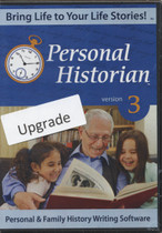 Personal Historian 3 Upgrade: Personal and Family History Writing Software