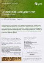 Handy Guide: German Maps and Gazetteers for Family Historians