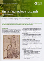 Handy Guide: Finnish Genealogy Research Beginner's Guide