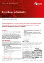 Handy Guide: Australian Electoral Rolls