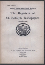 London Parish Registers: Bishopsgate (St Botolph) 1558-1753