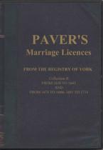 Yorkshire Parish Registers: York Marriage Licences 1630-1714
