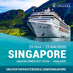 Unlock the Past Cruise 2019 Singapore Conference $200