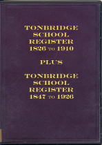 Tonbridge School Register, Kent 1826-1926