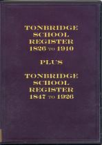 Tonbridge School Register, Kent 1826-1926