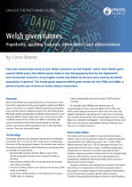 Handy Guide: Welsh Given Names: Popularity, Spelling Variants, Diminutives and Abbreviations