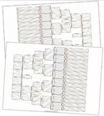 A3 6 Generation Bowtie Chart Set (pk of 2)