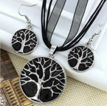 Tree of Life Jewellery Set (Black)