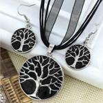 Tree of Life Jewellery Set (Black)