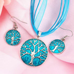 Tree of Life Jewellery Set (Blue)