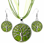 Tree of Life Jewellery Set (Green)