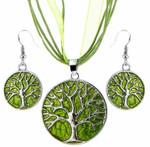 Tree of Life Jewellery Set (Green)