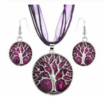 Tree of Life Jewellery Set (Purple)