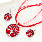 Tree of Life Jewellery Set (Red)