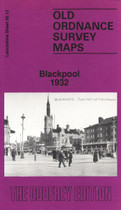 Town Map Lancashire: Blackpool 1932