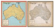 Carta Bella 12x12 Cartography No. 1 Australia