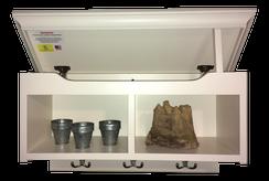 Medium cubby shelf with secret compartment