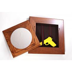 Porthole mirror with secret compartment