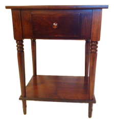 Bedside table with turned legs