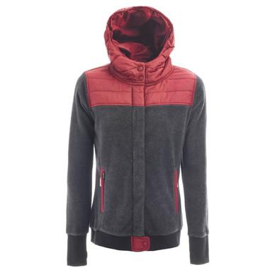 Holden Wmns Sherpa Hybrid Zip Fleece Black