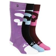 32 Womens Cutout Sock Multi 3 Pack