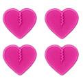 Crab Grab Mini Hearts Stomp Pad Pink