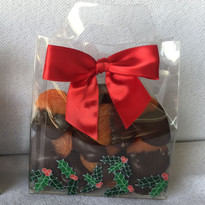 Holiday Chocolate Dipped Apricots