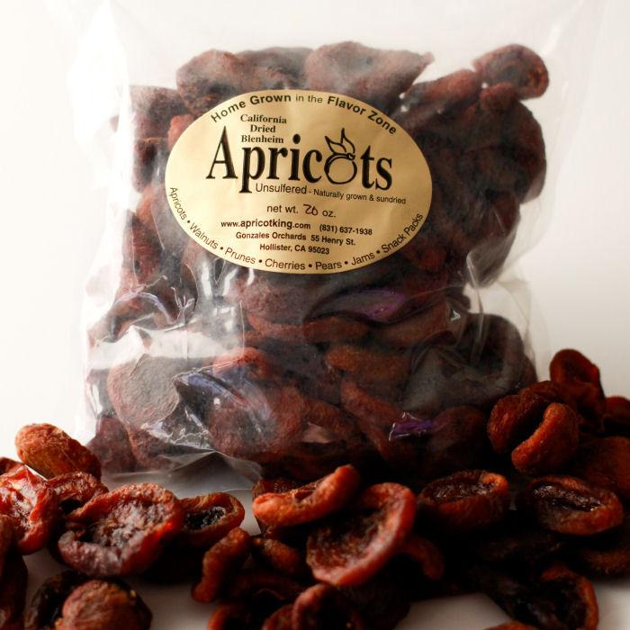 Unsulphured Dried Blenheim Apricots 16 oz bags
