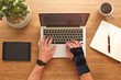 Sprained wrist support ideal for all work uses.