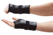 The Deluxe Wrist Support Splint is ideal for Carpal Tunnel Syndrome, wrist fractures, wrist sprains, repetitive strain injuries and wrist tendonitis in the left or right hand. The metal stay keeps the wrist in slight extension, relieving the strain on the tendon and helping to reduce wrist pain. The use of the additional strap allows for a higher level of support and immobilisation of the wrist which is ideal for night time use, whereas by using just the elastic strap the support can be used for work or sports activities that require wrist flexibility. It relieves the strain on the tendons, helping to reduce wrist pain and discomfort night and day.