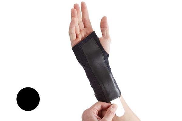 The Stomatex Wrist Support Splint is a lightweight, highly breathable and weatherproof material and the ideal choice for active people who need a high performance support for a variety of conditions. It has been designed in association with NHS Clinicians and is ideal for Carpal Tunnel Syndrome, wrist fractures, wrist sprains, repetitive strain injuries and wrist tendonitis in the left or right hand.