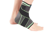 This Ankle Support with Ankle Wrap supports the ankle during sports and aids recovery post-injury from sprain or strains.