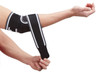 The Actesso Black Adjustable Elbow Strap is a wrap-around design made from a high-quality neoprene material that provides compression and therapeutic heating during activity, promoting increased local blood flow. It's universal size for optimum fitting and has  3 mm neoprene lined interior with plush for excellent comfort anti-allergic purposes.