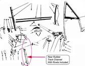 68-70 B-Body Hardtop Window Track Channel Insert w/Rivets