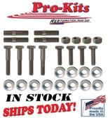 Exhaust Manifold Bolt Kit for 1966-69 Small Blocks 273 318 Mopar.  OEM Correct Service Kit