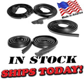 1968-70 Dodge Charger Basic Seal Kit, for 2-Door Hardtop. Door (LM 23) Roof Rail (RR 4001-A) Trunk (TK 2320), Seals.