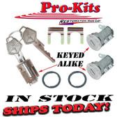 66-68 Mopar Ignition & Door Lock Set Keyed Alike NOS Keys