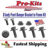 68 69 Road Runner Coronet GTX Super Bee (Except Charger) Front Bumper Bracket Bolt Kit