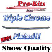 70 71 Cuda Barracuda Rear Bumper, No Slots.  Show Quality, Chromed in the USA
