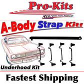 Mopar Underhood Strap Kit 1970-1974 A Body
