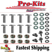 """68 69 Charger Front Bumper Chrome Bolt Kit including Bolts & Clips for """"L"""" Brackets"""