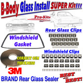 68 69 70 Roadrunner Coronet GTX Windshield Gasket & Rear Glass Seal with Reveal Molding Clips.